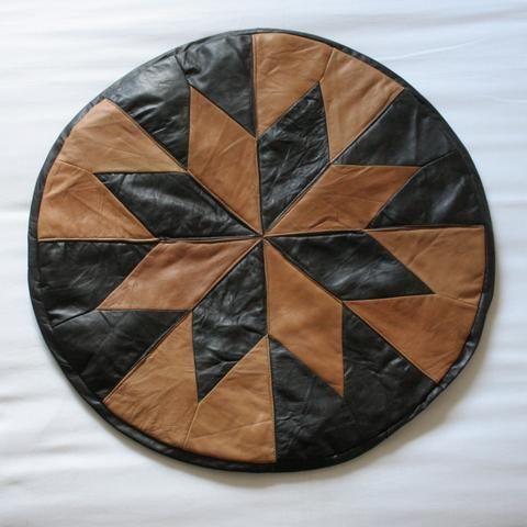 Leather Turkish Pouffe