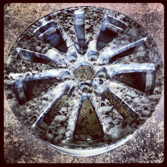 Wheel Hydro Dipped Hydrographics Hydro Dipping Hydro Printing