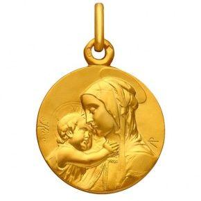 Médaille de baptême en or Vierge à l'enfant 140€!