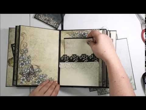 9 x 6.5 Heartfelt Creations Posey Patch Mini Album - YouTube