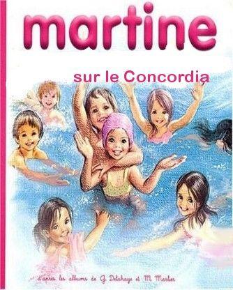 Martine sur le Concordia