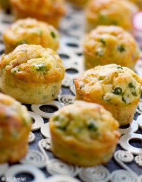 Muffins petits pois et lardons