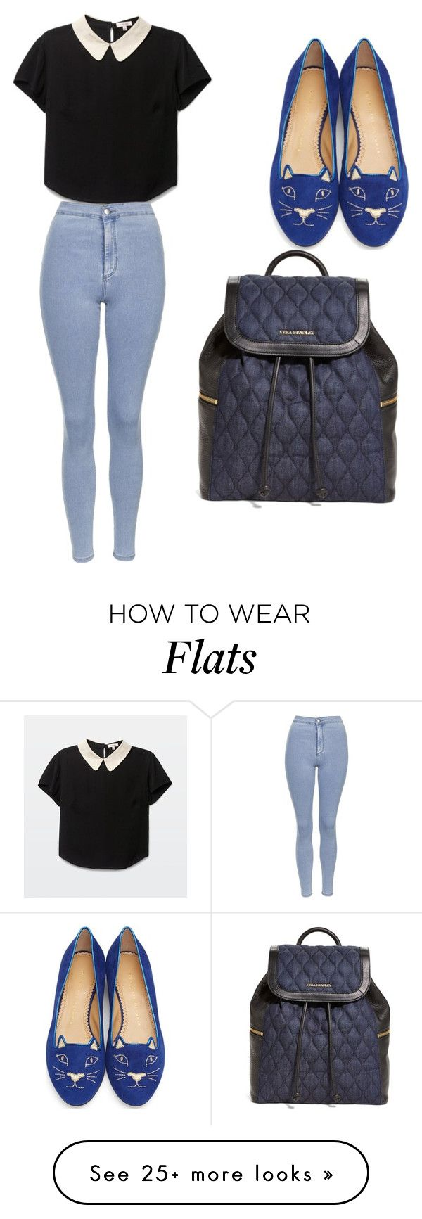 """""""My First Polyvore Outfit"""" by mikaelacallope on Polyvore featuring Charlotte Olympia, Topshop and Vera Bradley"""
