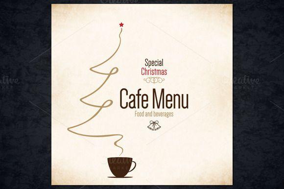 Special Christmas Cafe Menu by Restaurant Menu & Logos on @creativemarket