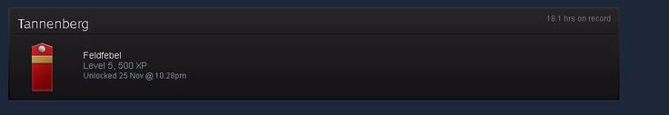 I managed to get to level 5 on Tanneberg on steam badges