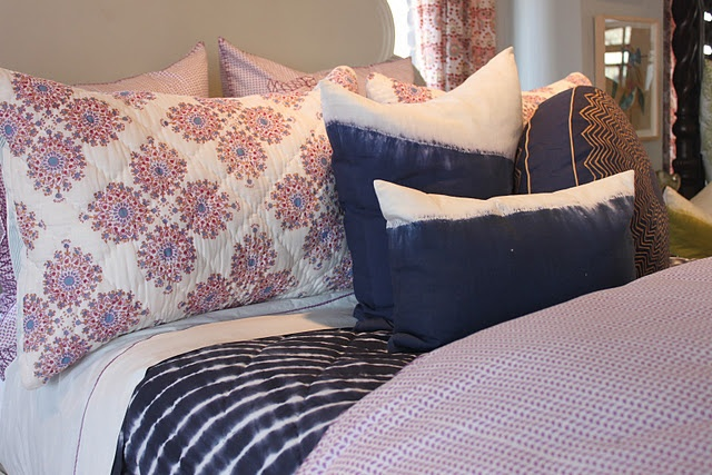 like the periwinkle shams with the purple duvet cover and navy to offset