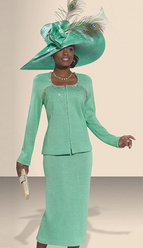 women's church suits 2014 | DVK2981 (Donna Vinci Spring And Summer Womens Church Knits 2014)