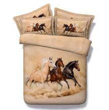 3D лошадь одеяла постельные принадлежности покрывала постельное белье одеяло пододеяльник супер двуспальная кровать королева-близнецы полный двойной сингл doona(China (Mainland))