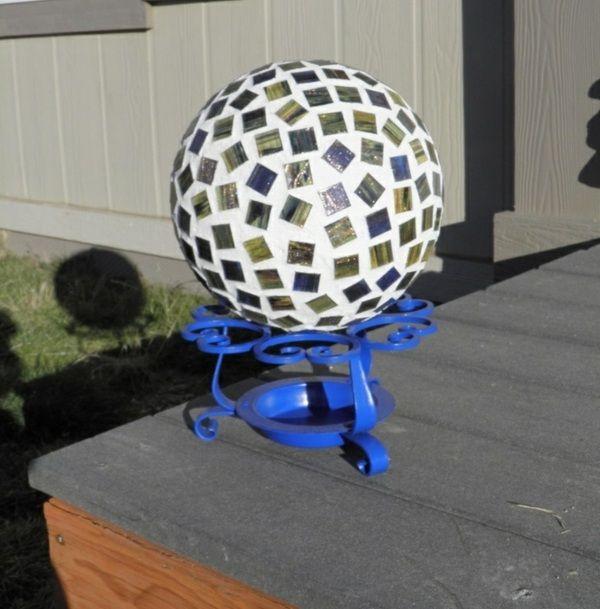 Garten Figur selber machen Bowling Kugel