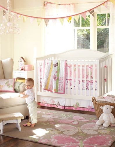 Nice Butterflies And Polka Dots Create A Sense Of Happy Energy In This Nursery.  We Hung