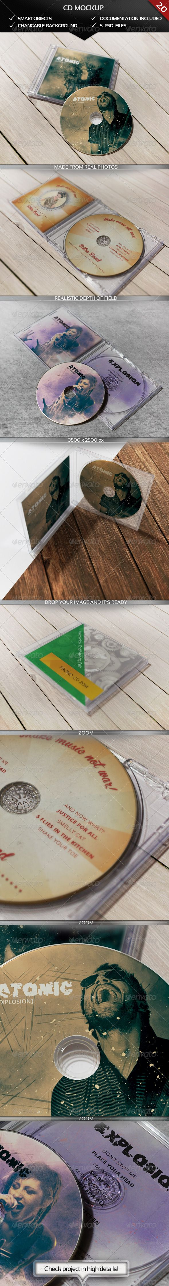 CD Realistic Mockup  #GraphicRiver        CD Realistic Mockup 3500×2500 px project,  5 PSD files, Documentation file included