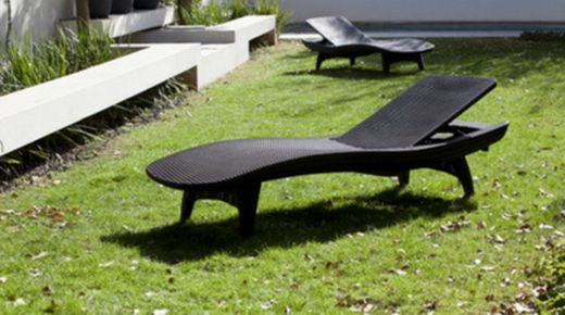 Pacific sun lounger outdoor furniture by keter on the for 5 5 designers chaise