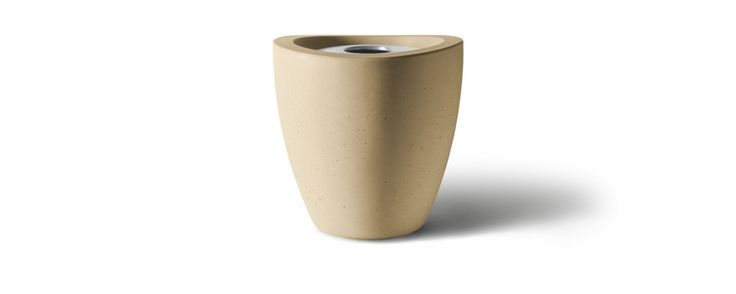 Dune Series Receptacles - Concrete Trash Receptacles Without Ash Receptacle