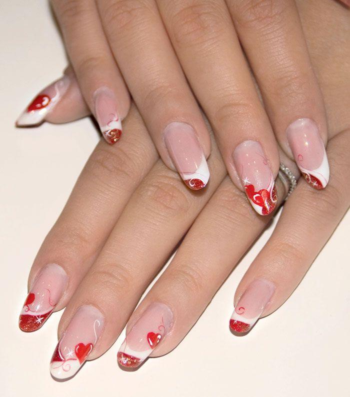 Oltre 1000 idee su unghie per san valentino su pinterest for Decorazione e applicazione unghie finte