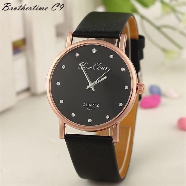 Montres Femmes 2018 Diamond Bracelet Watches Women Pu Leather Wristwatch Mens Quartz