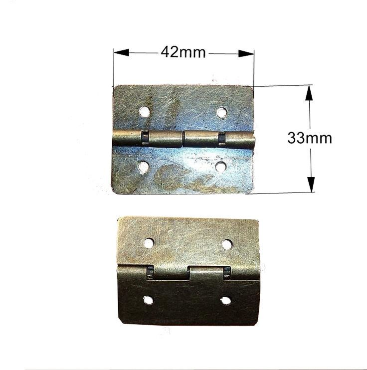 10 pcs 42MMx33MM Jewelry Box hinges   gift box Hinges  Wooden box Hinges with Screws by DiySupplyers on Etsy