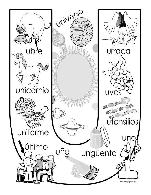 """""""U"""" coloring page                                                                                                                                                                                 Más"""