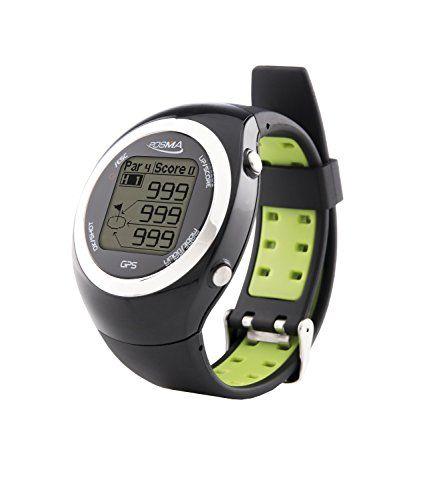 UK Golf Gear - POSMA GT2 Golf Trainer GPS Golf Watch Range Finder, Preloaded over 31900 global Golf Courses no download no subscription, Activity Tracking - Black