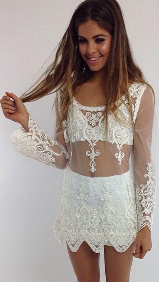 ☮ ßoho ßabe • Summer white lace