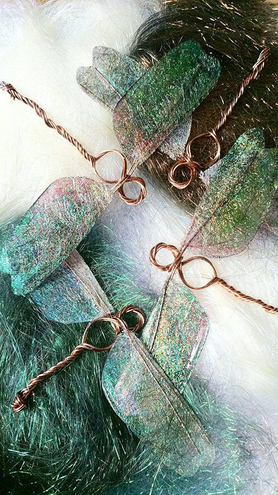 Dragonfly Wings | Wire Wrapped Copper Ornaments | Resin & Angelina Fibre Decorations