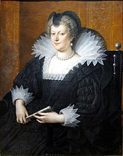 Marie de Médicis en 1616 - En 1616, les exigences de Condé deviennent si importantes que Marie le fait arrêter le 1° sept et conduire à la Bastille. Le duc de Nevers prend la tête de la noblesse en révolte. Le 25 déc 1616 Richelieu est nommé secrétaire d'état pour la Guerre et les Affaires étrangères. C'est bien des années après, lorsque Marie de Médicis est exilée par son fils que naît la légende noire de Marie: montée en puissance des favoris italiens, maladresse et corruption de sa…