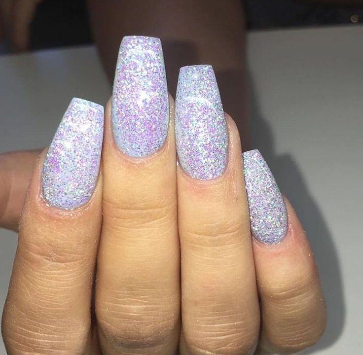 Best 25+ Acrylic nails glitter ideas on Pinterest