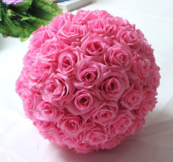 10inch (25cm) Wedding Kissing Balls Pomanders Romantic Silk Flower Kissing Balls Factory Wholesale (8)