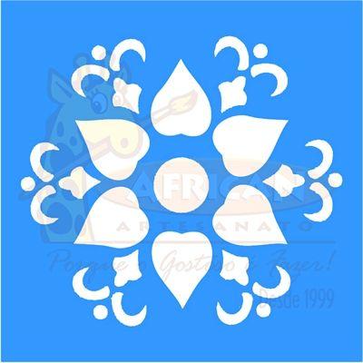Stencil Mandala Flor 10x10 - OPA