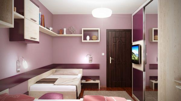 moderne gestaltung von jugendzimmer inspirierende ideen in lila - Jugendzimmer Gestalten