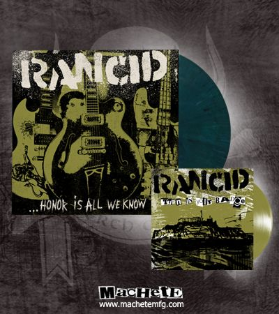 "Check out the deal on *Rancid Honor Is All We Know 12"" Deluxe Marble Green at machetemfg.com"