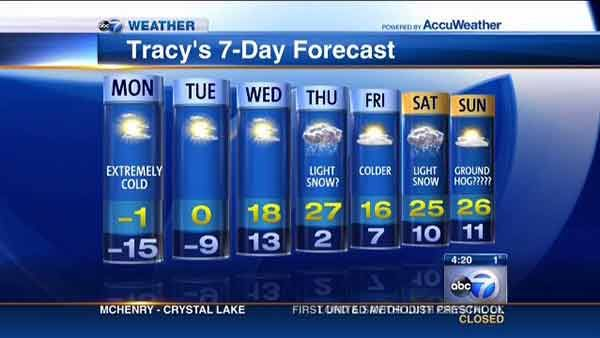 I am so sick of winter!!!  (Chicago's Weather Forecast for the week of January 27, 2014)