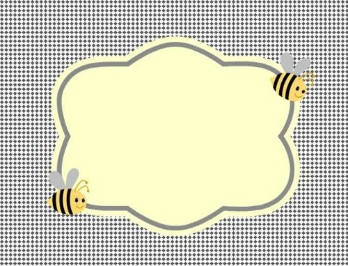 Free Printable bumble bee food labels.