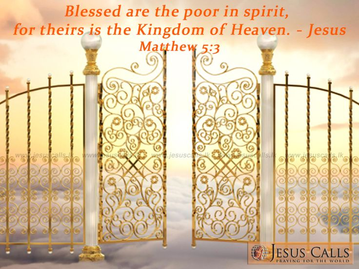 Blessed Are The Poor In Spirit For Theirs Is The Kingdom Of Heaven 40 best (Matthe...