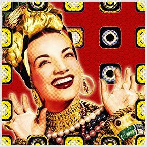 Carmen Miranda - Quadrinhos confeccionados em Azulejo no tamanho 15x15 cm.Tem um ganchinho no verso para fixar na parede. Inspirados em divas do cinema e MPB. Para entrar em contato conosco, acesse: www.babadocerto.c...