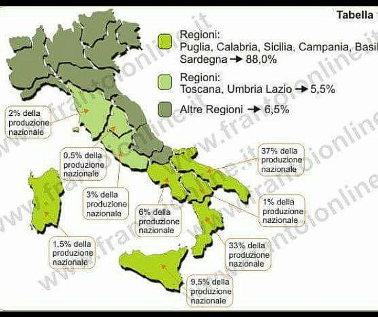 #mappa #produzione #olio in #italia