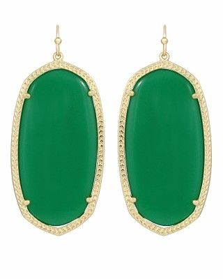Danielle Earrings in Green...LOVE these earrings.  They come in just about every color imaginable!