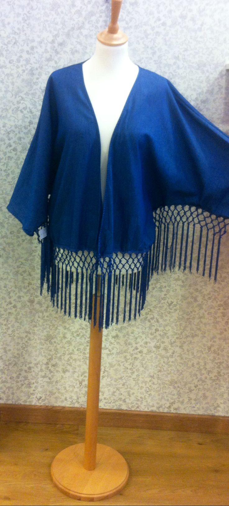 Kimono tejido vaquero fino