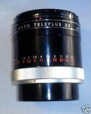 KENKO TELECONVERTER 3X AUTO CF TELEPLUS W/CAPS FOR CANON FL MOUNT CAMERAS NICE