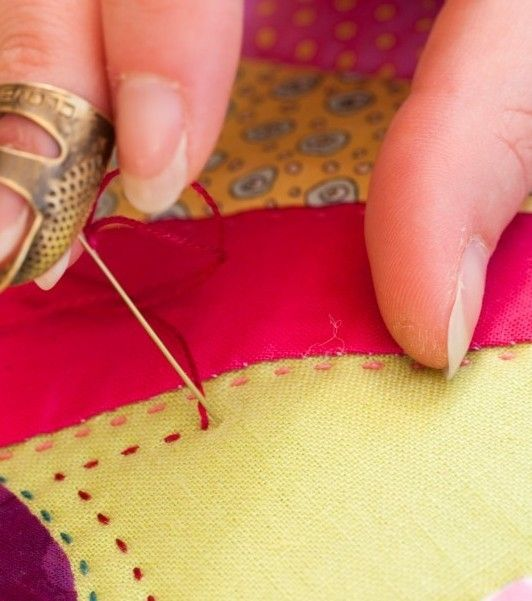 How to hand stitch a quilt