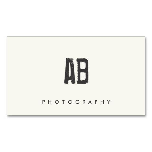Hip Cool And Edgy, Simple Black And White Monogram Business Card Templates.  This Great