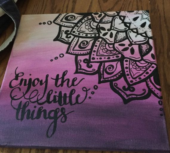 Mandala Canvas by beYOUtifulcreativity on Etsy