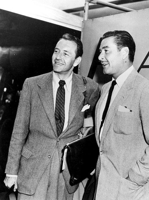 Errol Flynn and Paul Henreid, 1950s