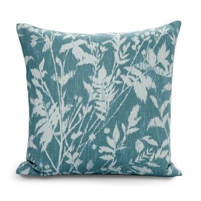 Ikat Floral Pillow Aqua
