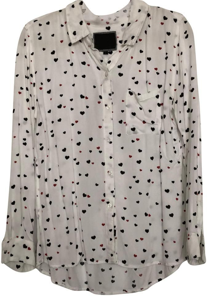 Rails Hearts Button Down Top Size 12 L In 2021 Tops Size 12 Heart Button