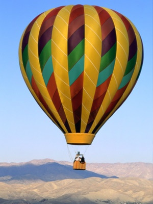 you love hot air ballooning (as long as you're on the ground) :)