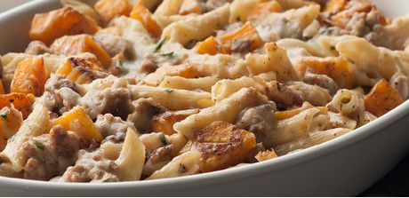 Baked Pasta with Sausage and Squash