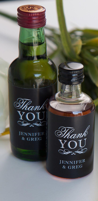Wedding Mini Liquor Favors - Wedding Favors - Wedding Favors for Guests - Inexpensive Wedding Favors - Thank You Wedding Favors - Creative Wedding Favors - Mini Liquor Labels