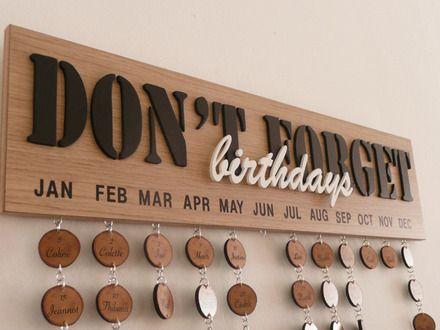 Calendrier anniversaire