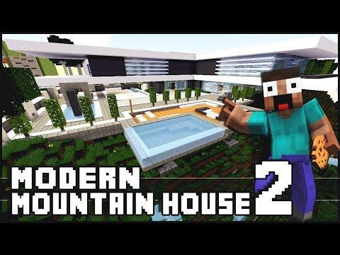 Modern Mountain House - Showcased by Keralis - Minecraft Project