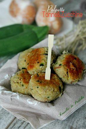 Polpette di tonno e zucchine - Le sfiziose. Deliziose come appetizer o come secondo piatto. Ideali per far mangiare le zucchine ai bambini.